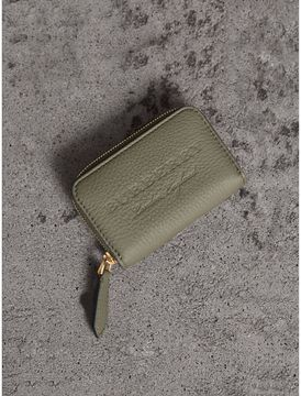 Burberry Textured Leather Ziparound Coin Case