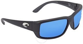 Costa del Mar Fantail Medium Fit Blue Mirror Glass Rectangular Sunglasses TF 11 OBMGLP