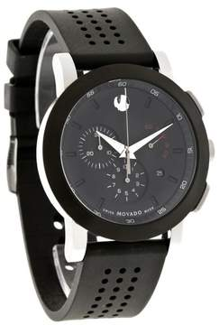 Movado Museum Chronograph Rubber Mens Watch 0606545