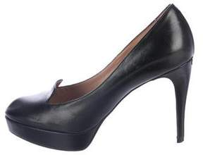 Emporio Armani Leather Platform Pumps
