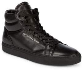 John Galliano High Top Leather Sneakers