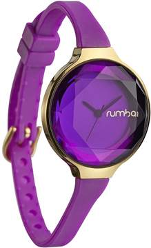 RumbaTime Women's Orchard Gem Silicone Amethyst 30mm Watch