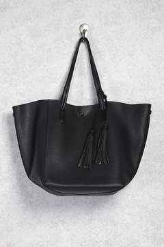 Forever 21 Faux Crinkled Leather Tote Bag