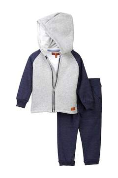 7 For All Mankind Hoodie, Tee & Joggers Set (Baby Boys)