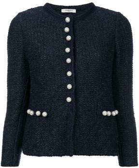Charlott pearl buttons tweed jacket