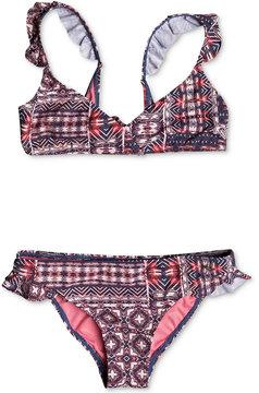 Roxy 2-Pc. Wavy Beach Bikini Set, Big Girls (7-16)