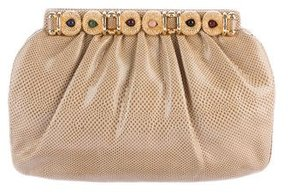 Judith Leiber Embellished Karung Crossbody Bag
