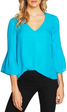 CeCe Women's Flare Sleeve Blouse