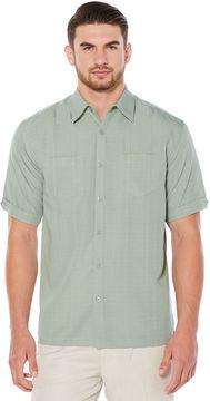 Cubavera Big & Tall Texture 2 Upper Pocket Shirt