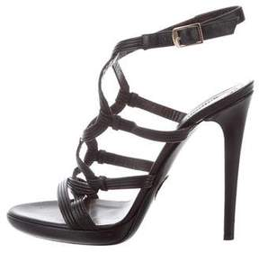 Roberto Cavalli Leather Multistrap Sandals