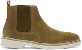H By Hudson Tan Suede Gallant Chelsea Boots