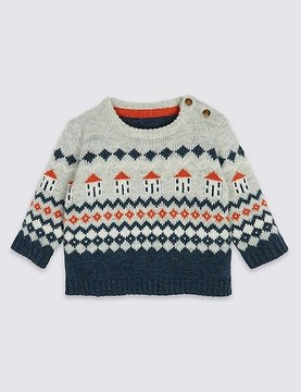 Marks and Spencer Fairisle Knit Jumper