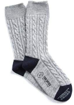 Corgi Cashmere Cable Knit Socks in Grey