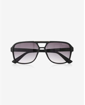 Express matte thick frame sunglasses