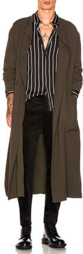 Haider Ackermann Silk Jersey Coat