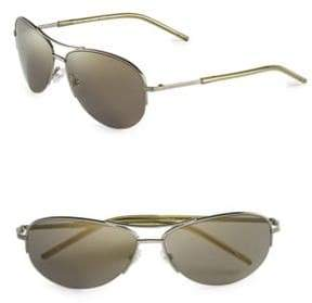 Marc Jacobs Matte 59mm Aviator Sunglasses