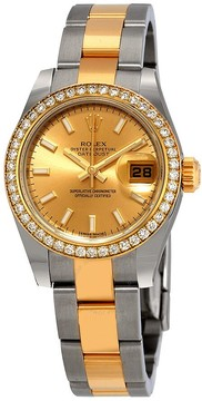 Rolex Datejust 26 Champagne Dial Automatic Diamond Ladies Steel and 18kt Yellow Gold Oyster Watch