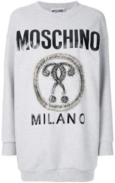 Moschino contrasting applications logo dress