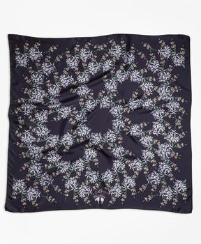 Brooks Brothers Wildflower-Print Silk Square Scarf