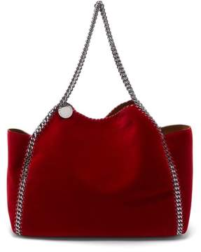 Stella McCartney Falabella Small Reversible Velvet Tote Bag - Womens - Red