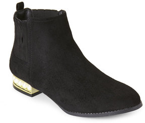 Wild Diva Black Jessie Pearl-Embellished Chelsea Boots