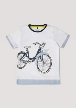Armani Junior T-Shirt With Bike Print