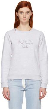A.P.C. Grey US Sporting Sweatshirt