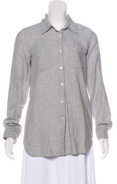 Organic by John Patrick Long Sleeve Button-Up Top