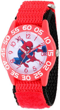 Marvel Spiderman Boys Red Strap Watch-Wma000188