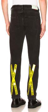 Off-White Firetape Slim Jeans