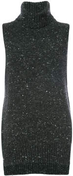 ADAM by Adam Lippes Marled wool cashmere sleeveless turtleneck sweater