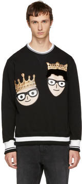 Dolce & Gabbana Black King Designers Sweatshirt