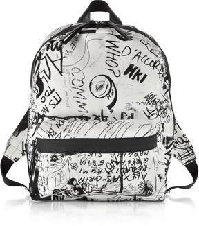 Maison Margiela White and Black Drawings Print Backpack
