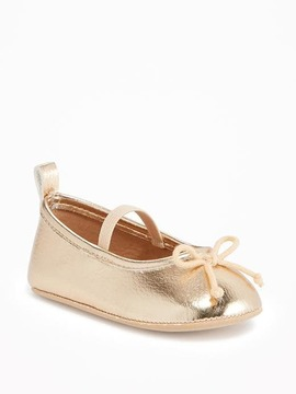 Old Navy Gold-Metallic Ballet Flats for Baby