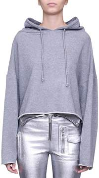 RtA Cropped Cotton Hoodie
