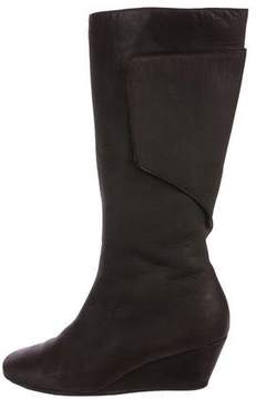 MM6 MAISON MARGIELA MM6 by Maison Martin Margiela Leather Wedge Mid-Calf Boots