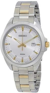 Seiko Silver Dial Two-tone Men's Watch