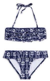 Snapper Rock Little Girl's Ruffled Two-Piece Swimsuit