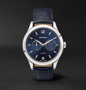 Montblanc Heritage Chronométrie Twincounter Date Automatic 40mm Stainless Steel And Alligator Watch