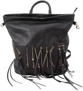 Pinko Black Leather Backpacks