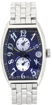 Franck Muller Master Banker 5850MB Blue Dial Stainless Steel Automatic 32mm Mens Watch