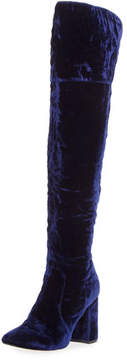 Joie Lalana Velvet 90mm Over-the-Knee Boot