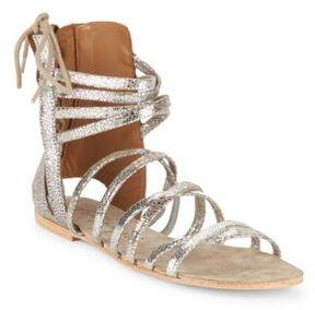 Free People Juliette Metallic Leather Sandals