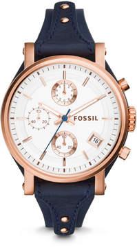 Fossil Original Boyfriend Chronograph Navy Leather Watch