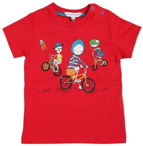 Little Marc Jacobs Bicycle Print Cotton Jersey T-Shirt