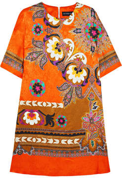 Etro Printed Silk-jacquard Dress - Orange
