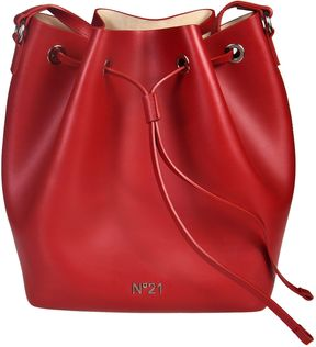 N 21 Logo Plaque Bucket Bag