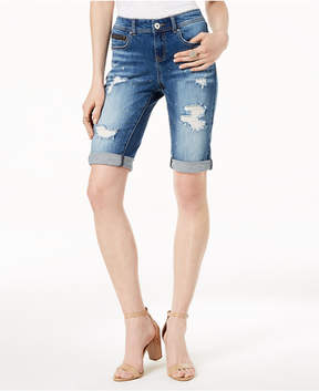 INC International Concepts I.n.c. Curvy-Fit Ripped Bermuda Shorts, Created for Macy's