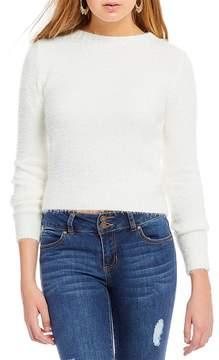 Copper Key Long Sleeve Eyelash Sweater