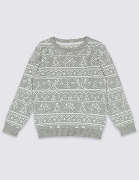 Marks and Spencer Pure Cotton Printed Jumper (3 Months - 6 Years)